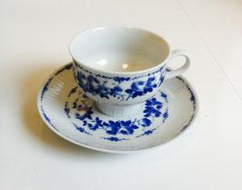 Kop en schotel merk Henneberg Porzelan 1777/echt kobalt