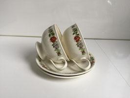 Porceleinen kop en schotel