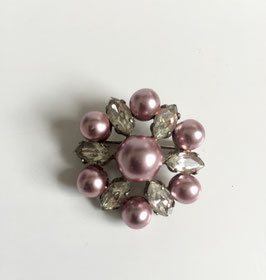 (roze) Broche vintage (3.3 cm)