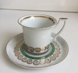 Kop en schotel porcelein