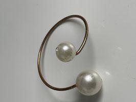 Nr 6432 metalen armband met parels en strass steentje in parel