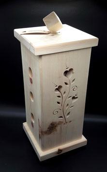 Duftsäule Zirbenholz, mit Blumenranke, extra starkes Zirbenholz!