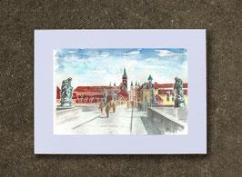 Kunstdruck 12,2 x 7,2 cm