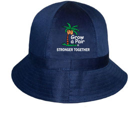 """Stronger Together"" and ""Crushing It"" Cotton Tennis or Golf Bucket Hat"