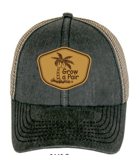Grow a Pair Leather Patch Hat