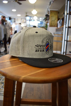 Snapback Cap Stay True Grau
