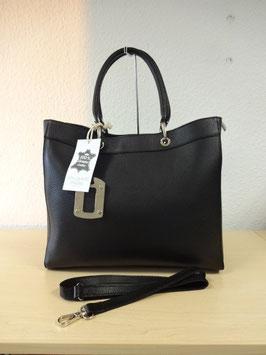 Henkel-Handtasche aus echtem Leder neuestes Model Schwarz