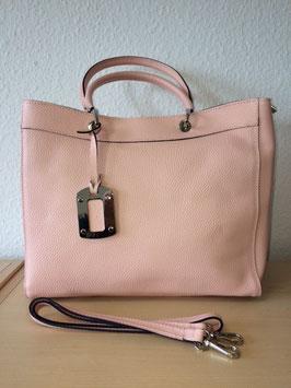Henkel-Handtasche aus echtem Leder neuestes Model Rosa