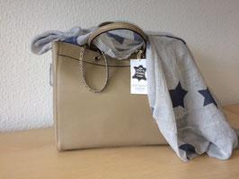 Henkel-Handtasche aus echtem Leder neuestes Model Beige - Sand