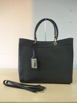Henkel-Handtasche aus echtem Leder neuestes Model Grau