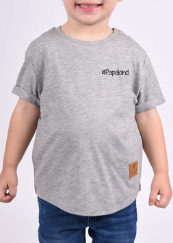 Kids T-Shört Roundcut #Papakind (grau)