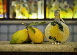 Rotonda bassa cc. 200 Crema Decorata a mano Limoni