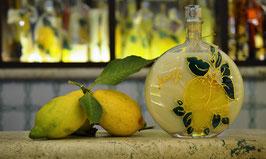 Rotonda bassa cc.500 Crema Decorata a mano Limoni