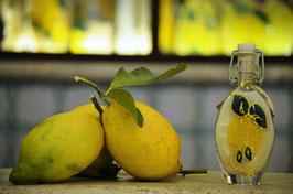 Sogliola cc.40 Crema Decorata a mano Limoni