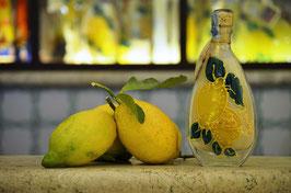 Imperiale cc. 200 Crema Decorata a mano Limoni