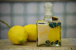 Cubo cc. 500 Crema Decorato a mano Limoni