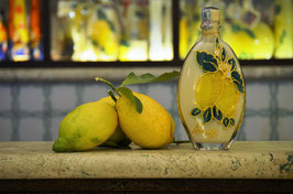 Sogliola cc. 200 Crema Decorata a mano Limoni