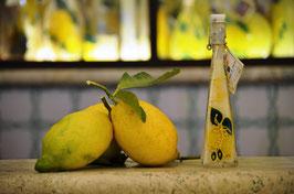 Triangolare cc.40 Crema Decorata a mano Limoni
