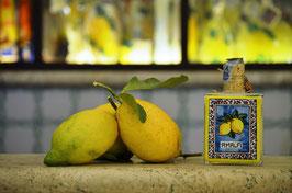 Capri cc.200 Crema Pannello di ceramica Limoni