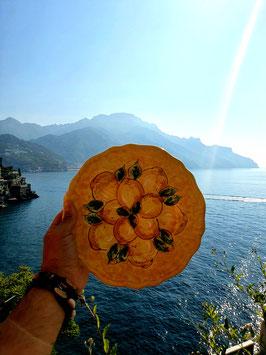 Piatto in Ceramica Vietrese dipinto a mano GIALLO LIMONE