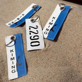 Schlüsselanhänger Strandkorb mit Wunschzahl