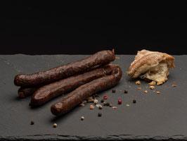 Rauchwurst nature (100% Rind) - 2 Paar (zum roh essen)