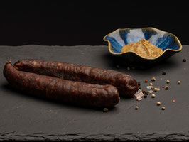 Rauchwurst nature (100% Rind) - 1 Paar (zum warm essen) *
