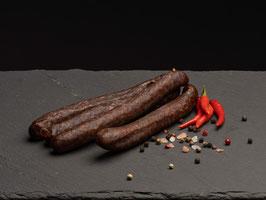 Chiliwurst (100% Rind) - 2 Paar (zum roh essen)