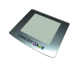 Gameboy Color Displayscheibe silber