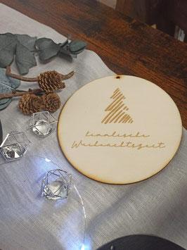 Holzscheibe Himmlische Weihnachtszeit