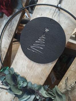 Holzscheibe Christbaum