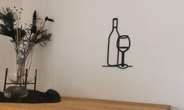 LineArt Weinflasche