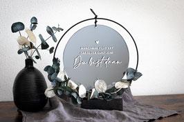 Spiegel rund mit Wunschmotiv