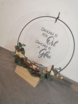 Glasscheibe Dahoam is koa Ort