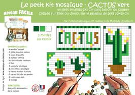 PETIT KIT MOSAIQUE - CACTUS vert