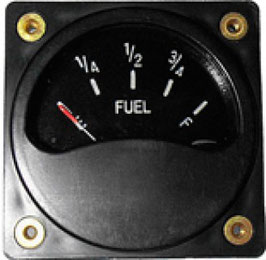 Single Fuel Gauge with Senders