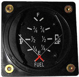Dual Fuel Gauge with Senders