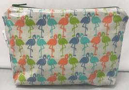Trousse flamants multicolores