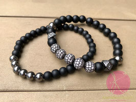 2er Set Armbänder black