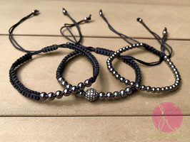 3er Set Armbänder black