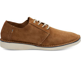 "TOMS SCHUHE ""PRESTON"" BROWN PIG SUEDE / STITCH OUT"