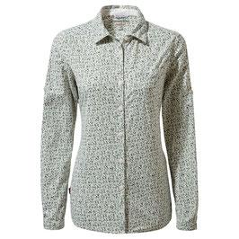 "Craghoppers; Bluse ""NL Fara LS Shirt"" sage print"