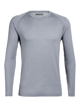ICEBREAKER COOL-LITE™ MOTION SEAMLESS LONG SLEEVE CREWE HERREN MINERAL HTHR