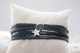Wickelarmband Stern&Anker dunkelblau Nr. 35