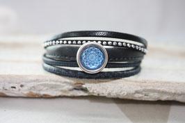 Lederarmband Mandala - blau Nr. 63