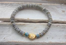 "Armband ""Caracol"" blau-gold Nr. 73"