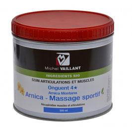 Onguent bio 4* Arnica - Massage sportif MICHEL VAILLANT Préparation et récupération du cheval 500ml
