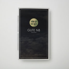 GUTE N8 MANN IM MOND - Notizheft / Faden
