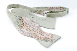 Map Green Self Tie Bow Tie