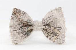 Map Beige Bow Tie